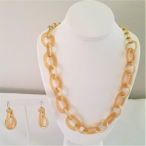 Champagne Necklace and Earring Set