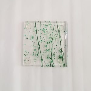 Forest Green Glass Coasters