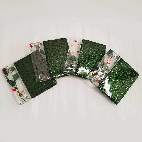 Set of 4 - Holly Day Drink Coasters