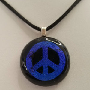 Glass art pendant