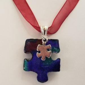 Puzzle-Piece-pendant-RedBlue-Charm-2