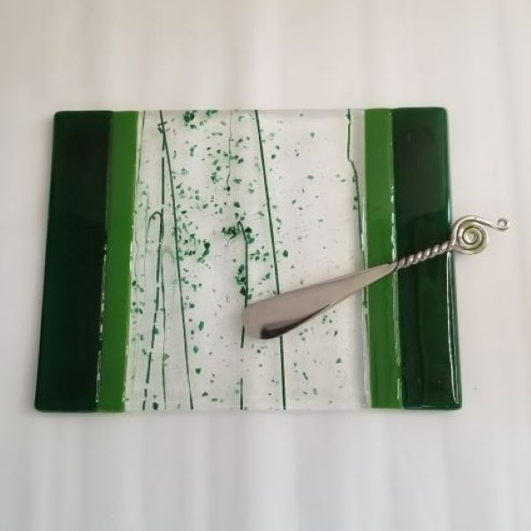Forest Green Stripes Cheese Board