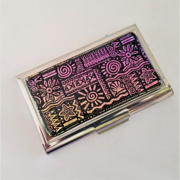 Etched Dichroic Moana Business Card Case