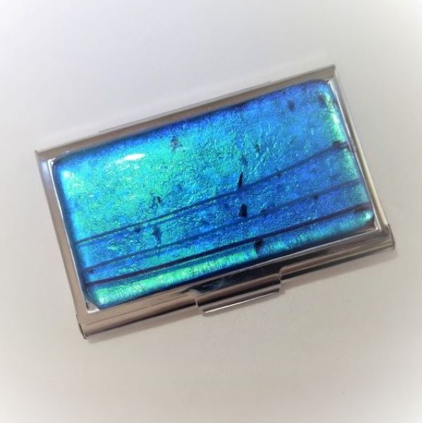 S04 Tortuga Blue Business Card Case