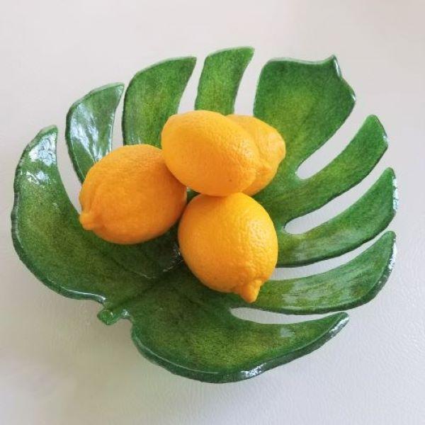 H01 Monstera Leaf Bowl