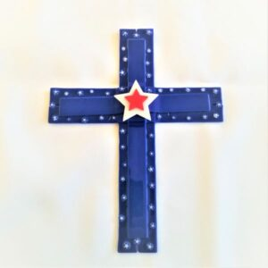Fused Glass Cross Art