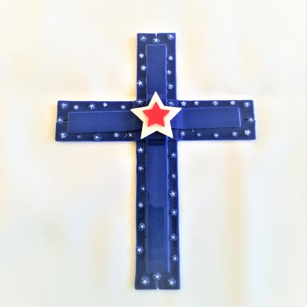 C22 Patriotic Stars Cross